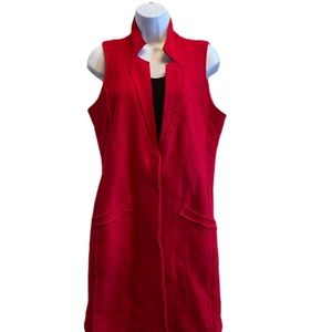 NEW! Chicos long red vest S